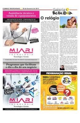 """Publicação da crônica """"O Relógio"""" no jornal Correio Trespontano (2015) - O texto pode ser melhor visualizado através do link: https://goo.gl/TsevXJ"""